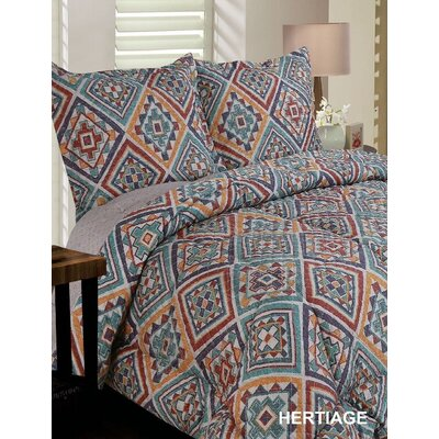 Heritage Reversible Comforter Set Size: King