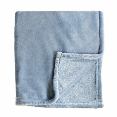 Bliss Velvet Fleece Throw Color: Blue
