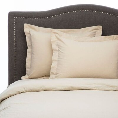 Hemstitch 3 Piece Duvet Set Size: Full/Queen, Color: Natural