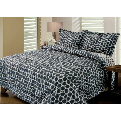 Rolls Quilted Reversible Comforter Set Size: King