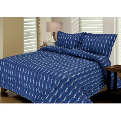 Stax Quilted Reversible Comforter Set Size: King