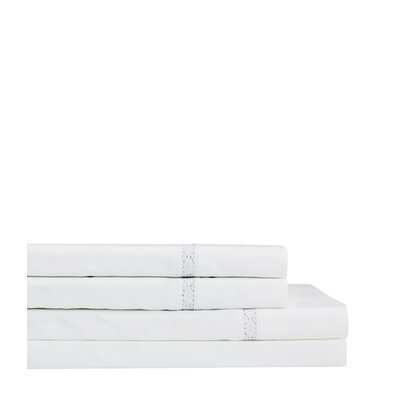 Quiles Crochet 300 Thread Count Percale 4 Piece Sheet Set Size: California King