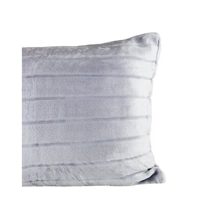 Laureano Velvet Stripe Sham Color: Amethyst