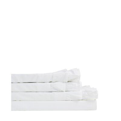 Quillen Double Ruffle 300 Thread Count Percale Sheet Set Size: Twin