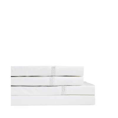 Flanigan 300 Thread Count Percale Sheet Set Size: Twin