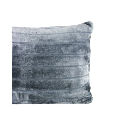 Laureano Velvet Stripe Sham Color: Charcoal