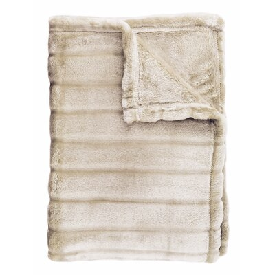 Sculpted Bliss Throw Color: Taupe