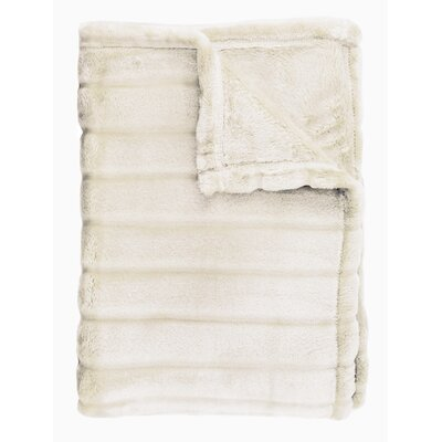 Sculpted Bliss Throw Color: Ivory