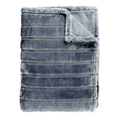 Sculpted Bliss Throw Color: Charcoal