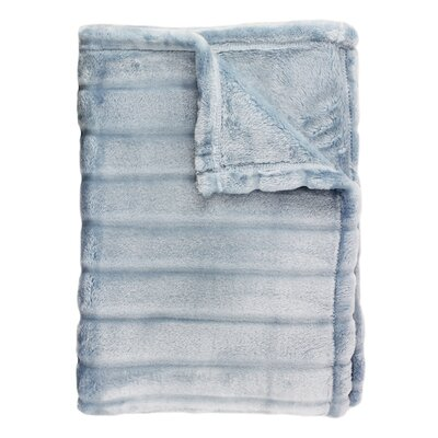 Sculpted Bliss Velvet Blanket Size: Full/Queen, Color: Blue