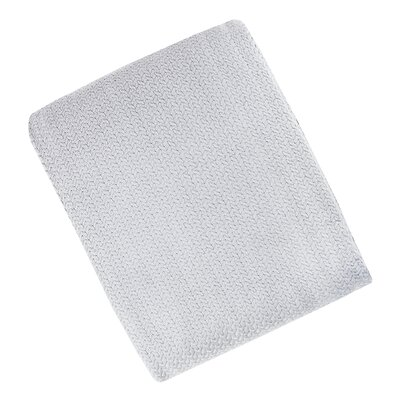 Combed Cotton Ringspun Blanket Color: Gray, Size: Full/Queen