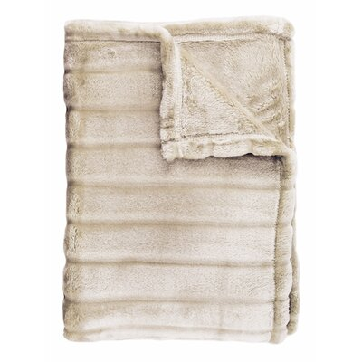 Sculpted Bliss Velvet Blanket Size: Full/Queen, Color: Taupe