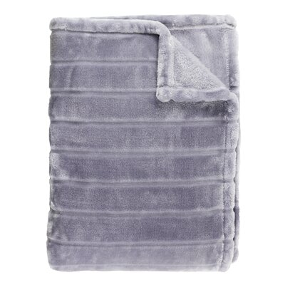 Sculpted Bliss Velvet Blanket Size: Twin, Color: Amethyst