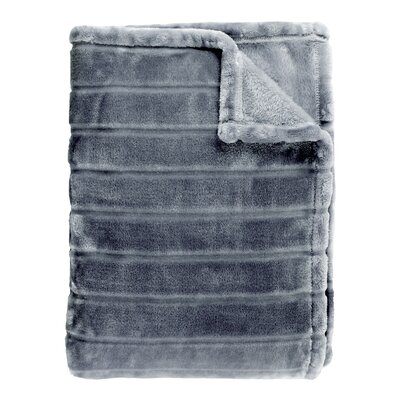 Sculpted Bliss Velvet Blanket Color: Charcoal, Size: King