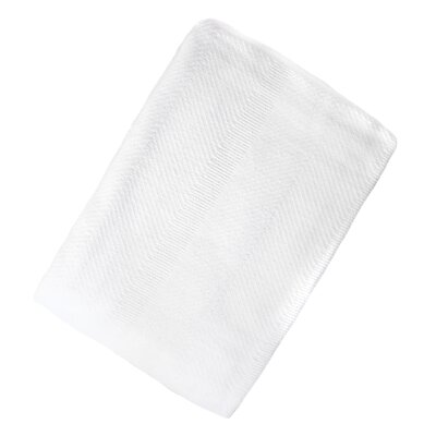 Ron Chereskin Cotton Blanket Size: King, Color: White