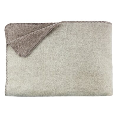 Merino Lambs 100% Australian Wool Reversible Blanket Size: King, Color: Ivory