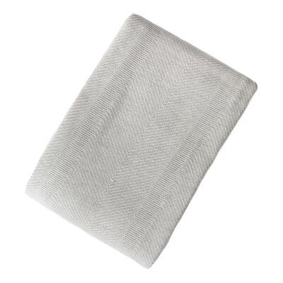 Ron Chereskin Cotton Blanket Size: King, Color: Gray