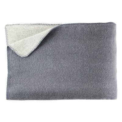Merino Lambs 100% Australian Wool Reversible Blanket Color: Gray, Size: King