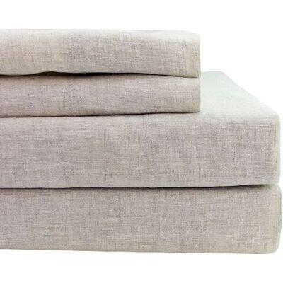 Belgian Linen Sheet Set Size: King, Color: Natural