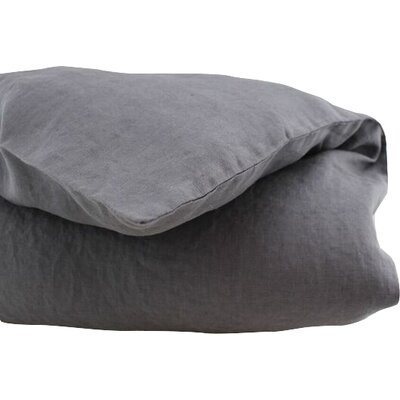 Belgian Duvet Cover Size: King, Color: Dark Grey