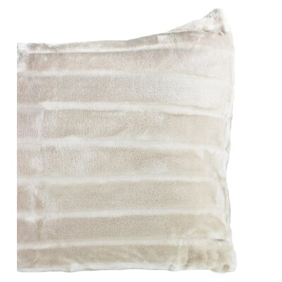 Sculpted Bliss Velvet Sham Color: Taupe