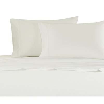 Hemstitch 1000 Thread Count Sheet Set Size: Twin, Color: Ivory