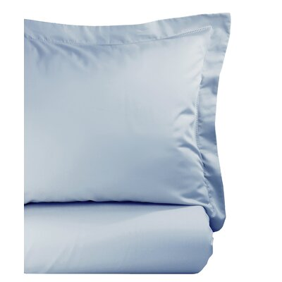 Hemstitch Duvet Set Size: King, Color: Blue