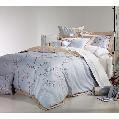 Sakura 3 Piece Duvet Cover Set Size: King