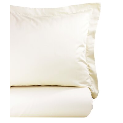 Hemstitch Duvet Set Size: Twin, Color: Ivory