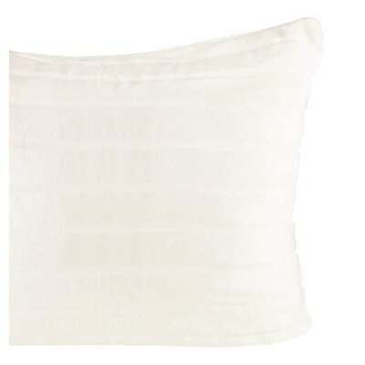 Sculpted Bliss Velvet Sham Color: Ivory