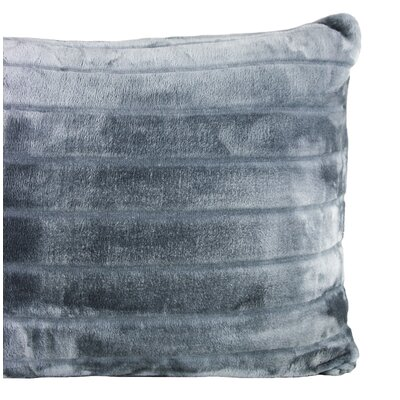Sculpted Bliss Velvet Sham Color: Charcoal