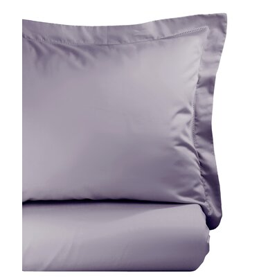 Hemstitch Duvet Set Color: Amethyst, Size: Full/Queen