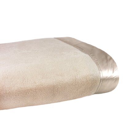 Plaza Blanket Size: Twin, Color: Taupe