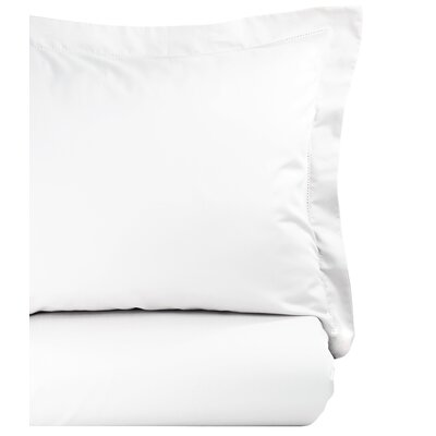 Hemstitch Duvet Set Size: King, Color: White