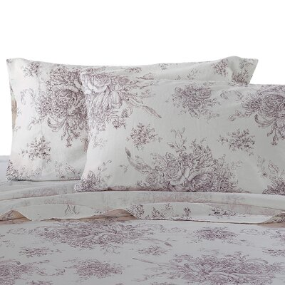 Hemstitch Pillowcase Size: Standard, Color: Burgundy