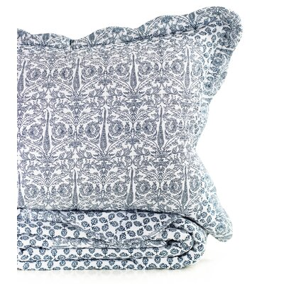 Lotus 100% Cotton Reversible Quilt Size: King