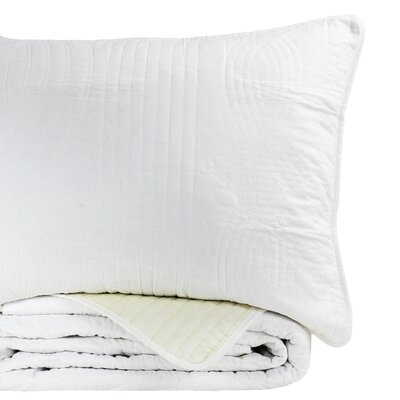 Ethel Reversible Standard Sham Color: White/Ivory