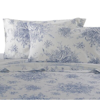 Hemstitch Sheet Set Size: Queen, Color: Navy
