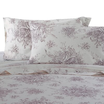 Hemstitch Sheet Set Size: Full, Color: Burgundy