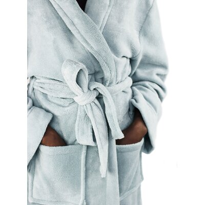 Micro Fleece Bathrobe Color: Celestial Blue