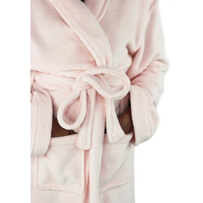 Micro Fleece Bathrobe Color: Smokin Pink