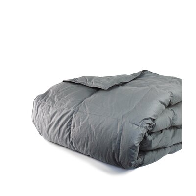 700 Fill Power All Season Down Comforter Size: Twin / Twin XL, Color: Charcoal Gray