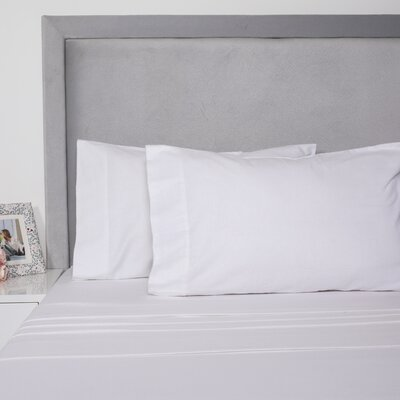 Yarn Dyed Cotton Sheet Set Size: Full, Color: White