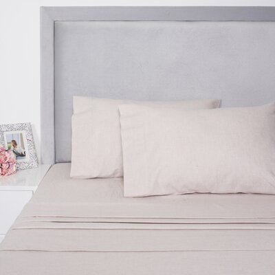Yarn Dyed Cotton Sheet Set Size: Full, Color: Oatmeal