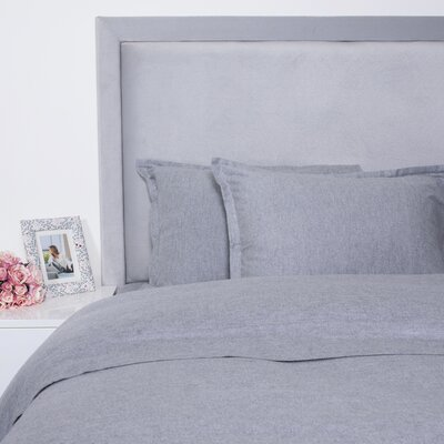 Duvet Cover Set Size: King, Color: Gray