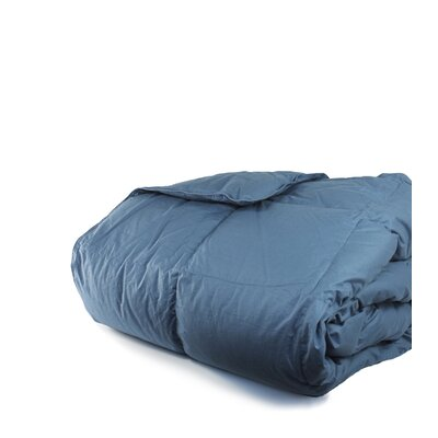 700 Fill Power All Season Down Comforter Size: King, Color: Rock Blue