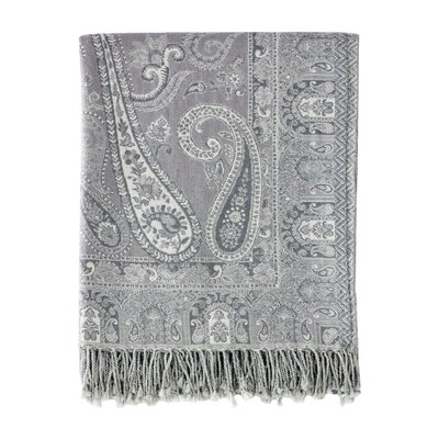 Jacquard Ravenna Paisley Cotton & Wool Throw
