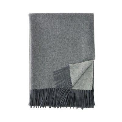 Merino Wool Reversible Throw Color: Gray