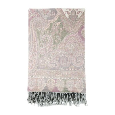 Jacquard Catalina Paisley Cotton & Wool Throw