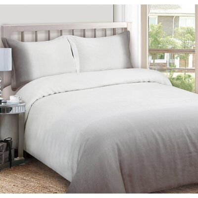 Duvet Cover Set Size: Full / Queen, Color: Gray